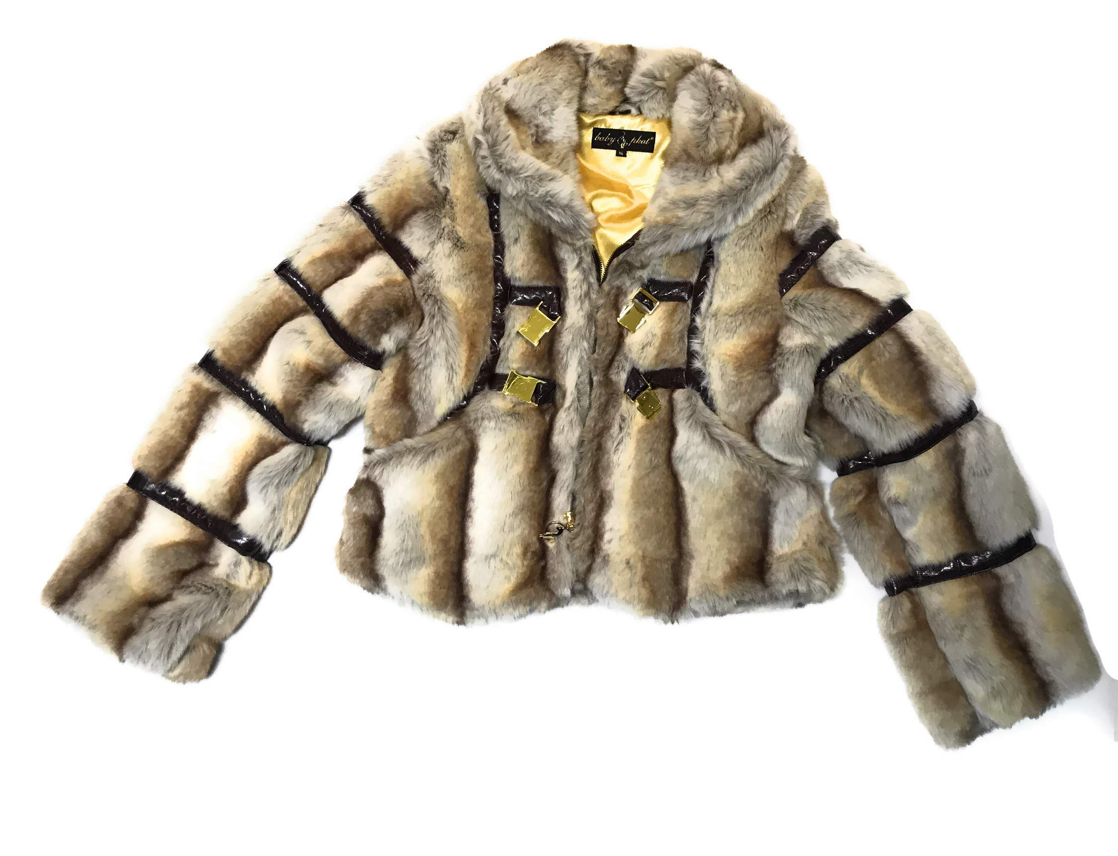 Baby Phat Women's Winter Coat Jacket, Natural, X-Large, 1054BPR Brown by Baby Phat