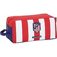 Atletico de Madrid Bolso Zapatillas zapatillero Equipaje, Niños Unisex, Rojo/Blanco/Azul, Talla Única