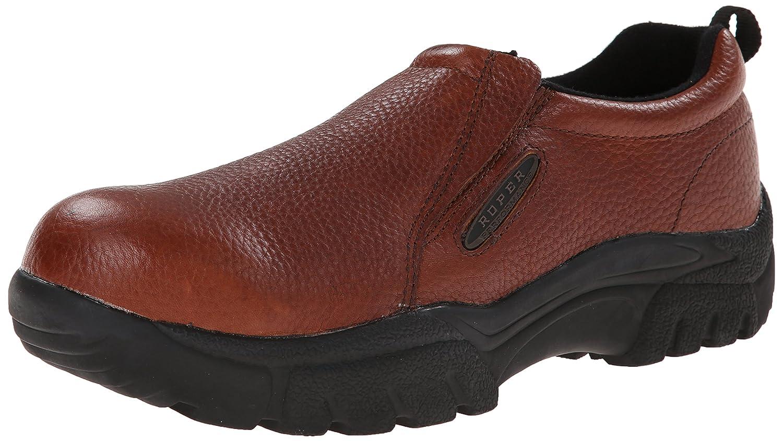Roper Brown Tumbled Leather Steel Toe Mensスリップオン、 B00JP7OTNI 12 2E US|ブラウン ブラウン 12 2E US