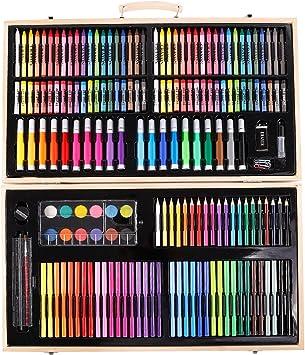 Anladia Caja Colores Kit de Pintura -180 Piezas Set Lápices de Colores de Dibujo Pintar Crear para Adultos: Amazon.es: Juguetes y juegos
