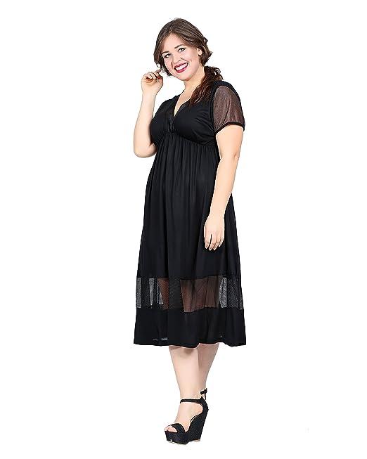 Damen Designer Kleid Abendkleid Jersey Midi auch Große Größen, Netzkleid  Haute Couture durchsichtig transparent Dress Cocktail Dekoltee, Übergrößen  Plus ...
