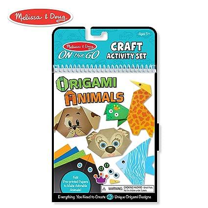 Amazon Com Melissa Doug On The Go Origami Animals Craft Activity