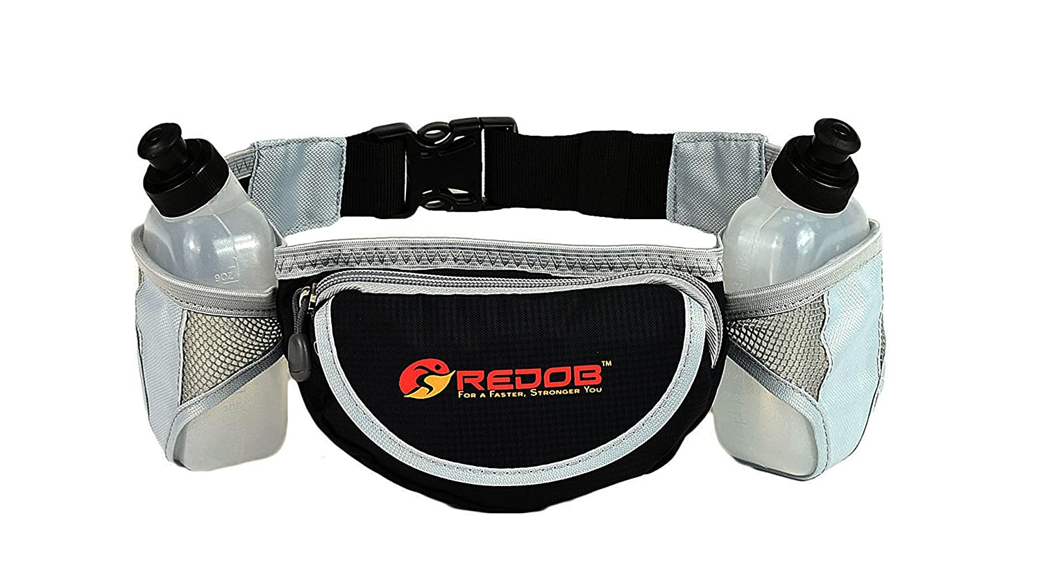 Durable Handy Running Hydration Belt With 2 bottels included 10 Oz Each Perfect Fuel Belt Runners Waist Pack by Redob