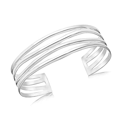 Tuscany Silver Sterling Silver Fancy Torque Bangle
