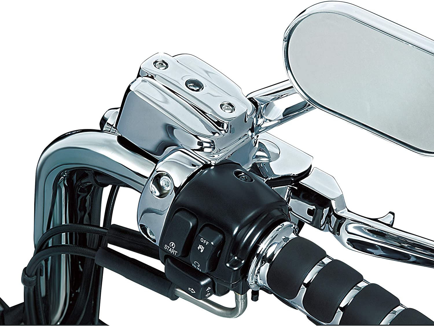 Kuryakyn 9119 Motorcycle Handlebar Accessory Complete Chrome Replacement Brake and Clutch Control Dress-Up Kit for 1996-2017 Harley-Davidson Motorcycles Single Disc