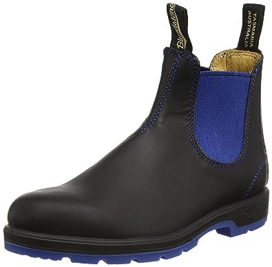 Blundstone Classic, Unisex-Erwachsene Kurzschaft Stiefel, Schwarz  (Black/Blue),