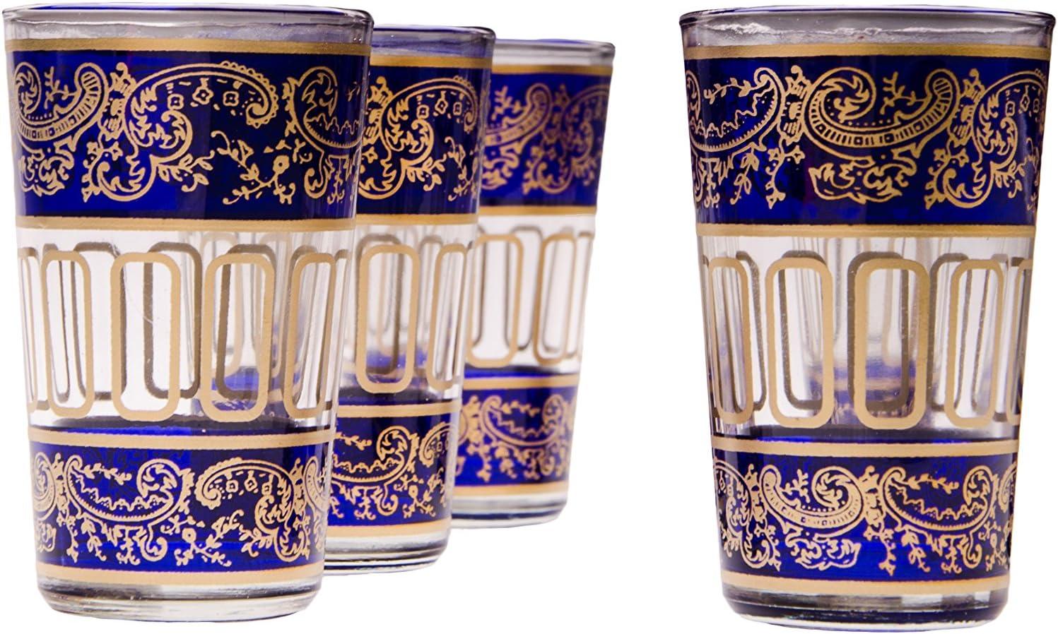 Lot de 6 verres /à th/é caf/é color/é marocain Lamia couleur Rouge 6 Photophore en verre comme d/écoration marocaine dans votre chambre ou maison verre de th/é turc en style oriental