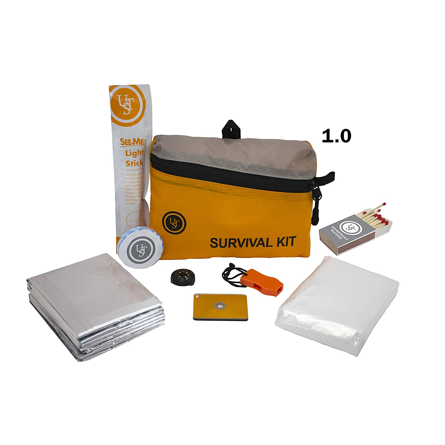 Ultimate Survival Technologies FeatherLite Survival Kit 1.0 8-Piece Essentials