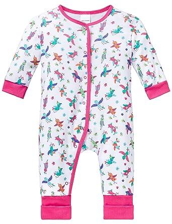 d908db6c3d Schiesser Mädchen Baby Anzug mit Vario Fuß Zweiteiliger Schlafanzug:  Amazon.de: Bekleidung
