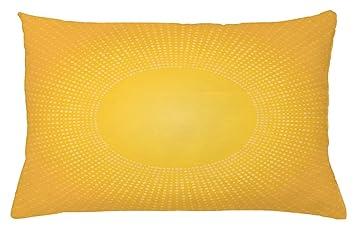 Amazon.com: Ambesonne - Funda de cojín amarilla, imagen ...