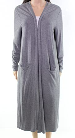 Lord Taylor Heather Women Medium Open Front Soft Robe 48 Gray M At
