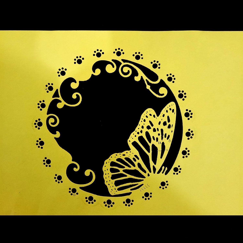 Katc Scrapbooking Pr/ägeschablonen Stanzformen Schablonen Butterfly Frame Metall Stanzmaschine Stanzschablone f/ür Sizzix big shot//Cuttlebug // und andere Embossing Machine
