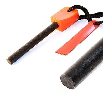 Fuego de acero/fuego (pedernal) de magnesio piedra (72 mm de longitud