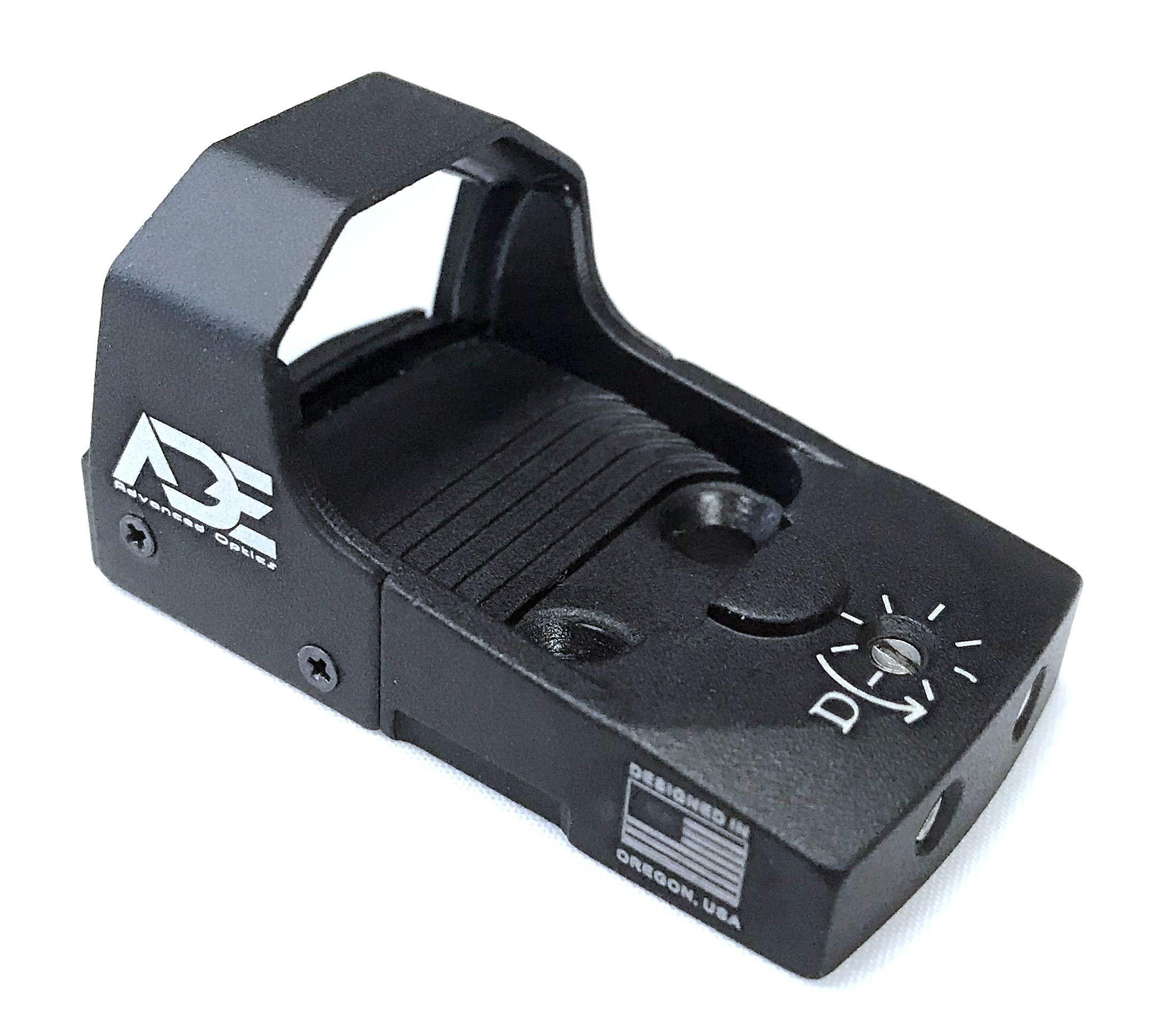 Ade Advanced Optics Mini RD3-006x Green Dot Reflex Sight for HK USP Pistol Mounting Plate That Replace Rear Sight by Ade Advanced Optics