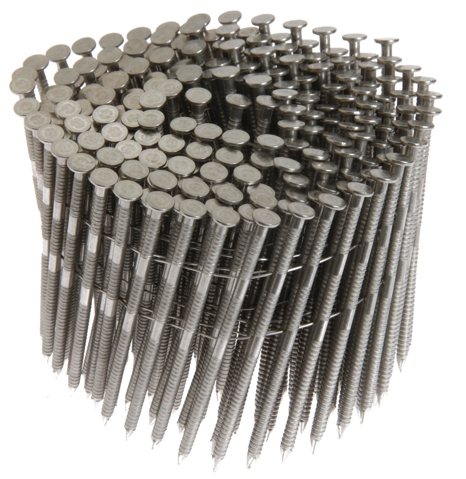 Grip Rite Prime Guard MAXC62875 15-Degree Wire Coil 1-3/4-Inch by .09-Inch Ring Shank, Stainless Steel Siding Nails, 1200 Per Box by Grip Rite Prime Guard
