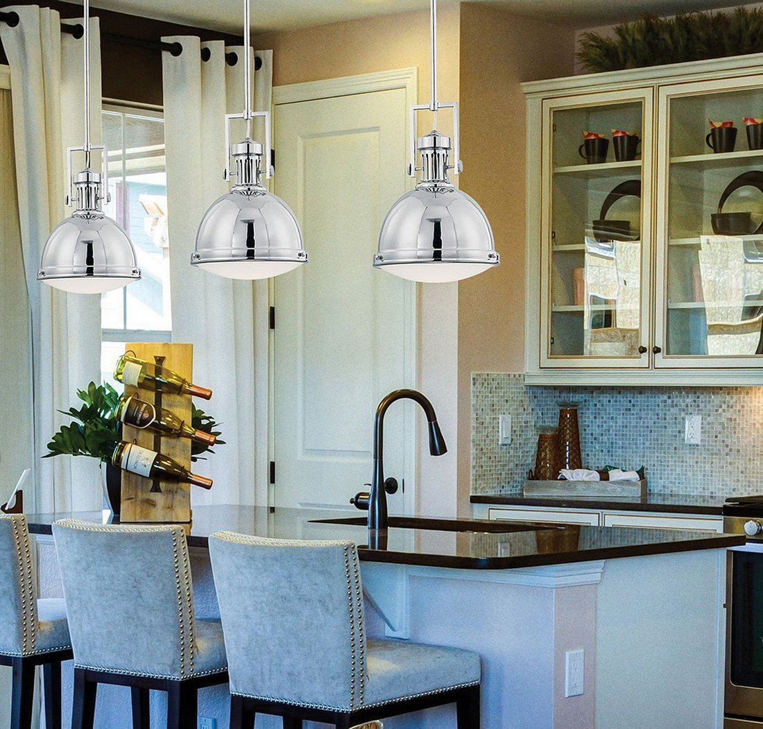 Savoy House 7-730-1-109 Vintage Pendant in Polished Nickel - Ceiling ...