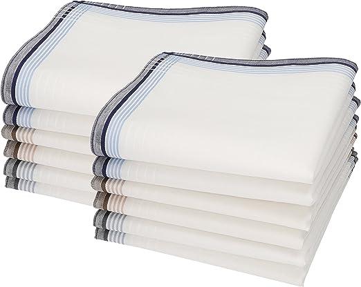 Betz Juego de pa/ñuelos LEO 5 de tejido para caballeros 100/% algod/ón 40x40 cm dise/ño 6