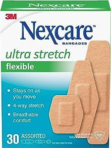 Nexcare Comfort Flexible Fabric Bandage, Assorted Sizes, 30 Count
