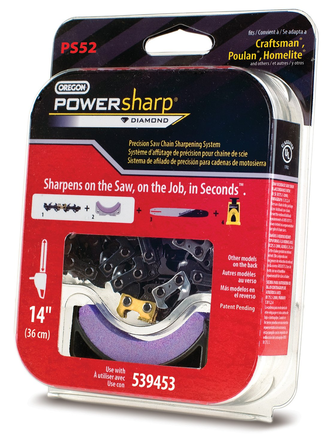 Oregon PS52 PowerSharp 14-Inch Chainsaw Chain For Craftsman, Echo, Homelite, Poulan