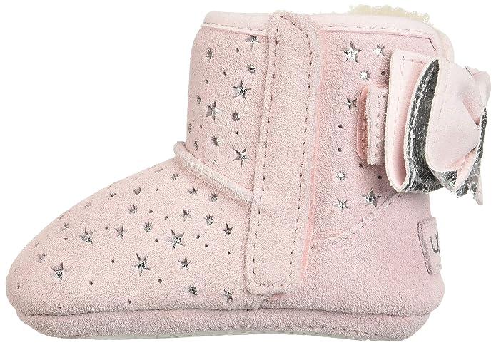 UGG Baby Girls Grey Jesse Bow Star Booties