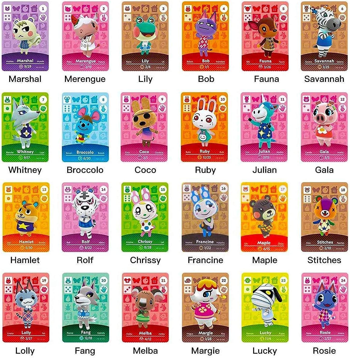 24 개 NFC AMIIBO 카드 동물 횡단 새로운 지평 새로운 지평 마을 카드 호환 닌텐도 스위치   라이트   WII U   새로운 3DS