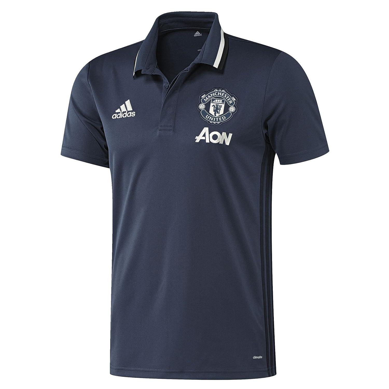 2016-2017 Man Utd Adidas Training Polo Shirt (Mineral Blue) Kids B01HUQDLFWBlue Small Boys 26-28\