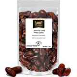 Traina Home Grown California Dried Pitted Dates - Healthy, No Added Sugar, Non GMO, Kosher Certified, Vegan, Packed in Reseal
