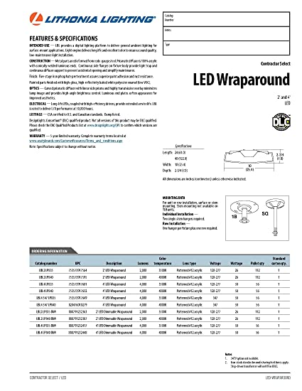 81lf10636BL._SY550_ lithonia lighting lbl4 lp835 4 feet commercial led wraparound indoor