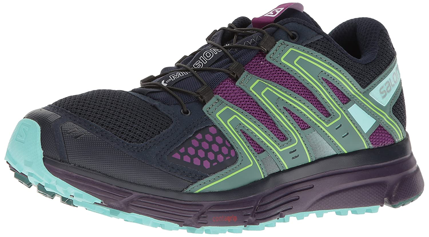 Salomon Women's X-Mission 3 W-w B01HD1WJDO 9.5 B(M) US|Navy Blazer/Grape Juice/North Atlantic