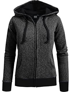 Meaneor Womens Long Sleeve Casual Zip-Up Hoodie Jacket Lightweight Sweatshirt