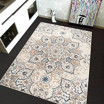 Tapiso Antik Perser Bereich Teppich Oriental Design In Grau Micro Polyester  Shaggy Perfekt Für Schlafzimmer