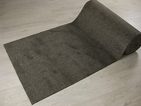 New tappeto passatoia kathmandu diverse dimensioni grigio scuro