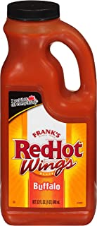 product image for Frank's RedHot Hot Buffalo Wings Sauce (Wing Marinade, Large Hot Sauce), 32 oz