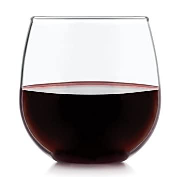 Libbey Stemless 4 Piece Red Wine Glass Set