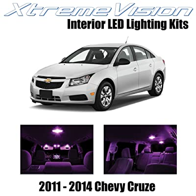 Xtremevision Interior LED for Chevy Cruze 2011-2014 (12 Pieces) Pink Interior LED Kit + Installation Tool: Automotive