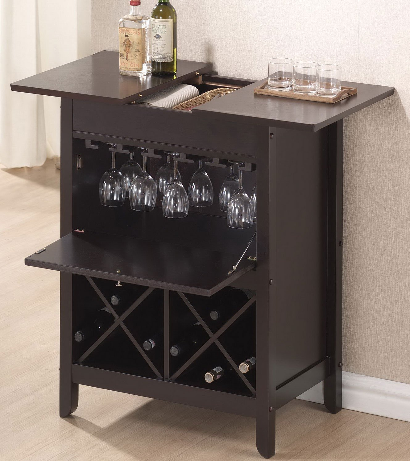 Amazon Baxton Studio Tuscany Brown Modern Dry Bar And Wine Cabinet Kitchen Dining