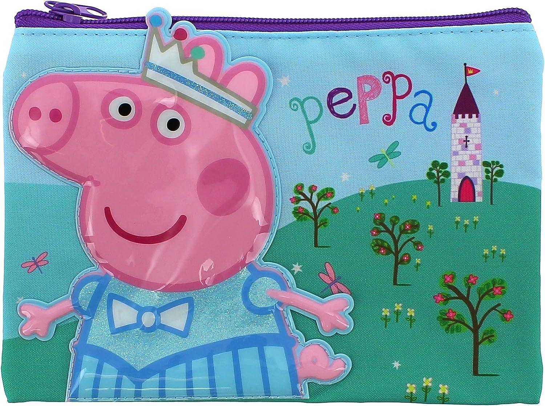 Peppa Pig estuche para lápices con cierre: Amazon.es: Oficina y papelería