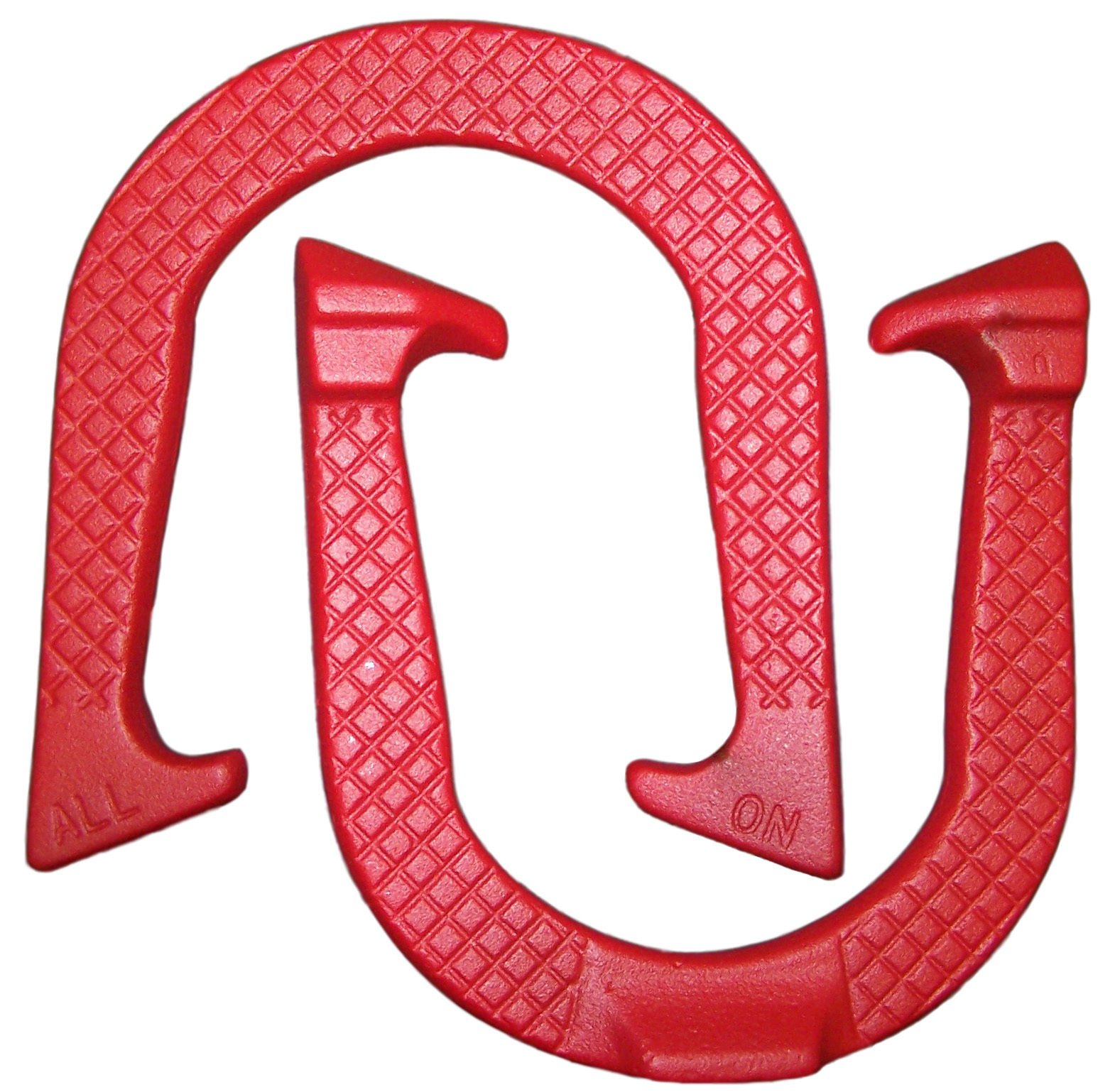 All-On Professional Pitching Horseshoes- Made in The USA! (Red- Single Pair (2 Shoes))