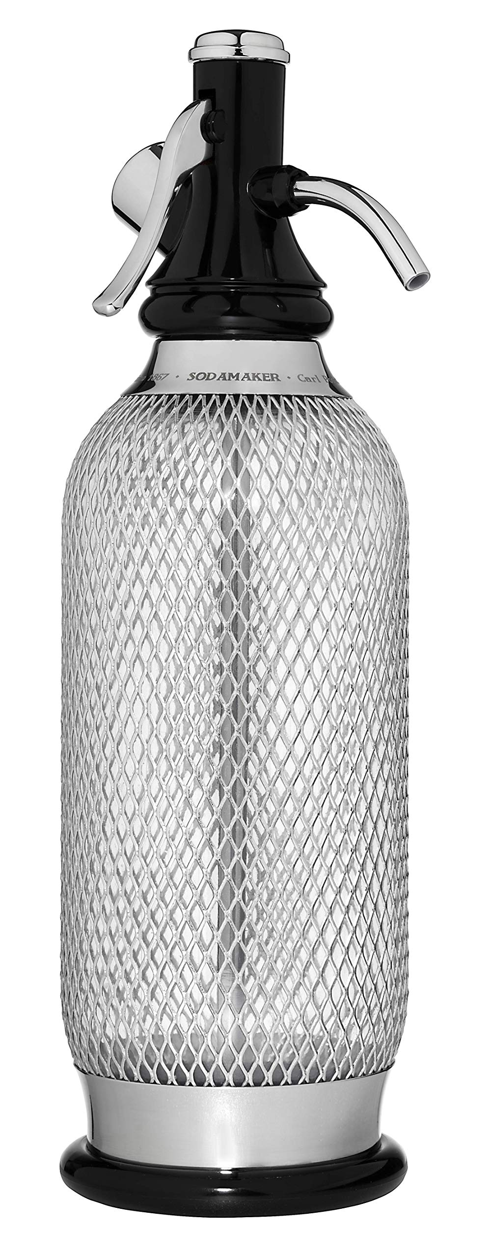 iSi Classic MeshSodamaker for Making Carbonating Beverages, 1 Quart, Stainless Steel