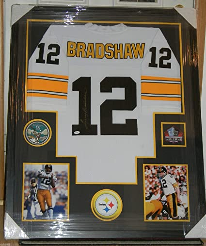 sports shoes 40f32 ab9da Terry Bradshaw Signed Jersey Framed Auto JSA COA Pittsburgh ...