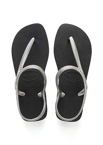 9174d6a35 Havaianas Womens Flash Urban Sandals Strappy Beach Lightweight Flip Flop -  Black Silver - 7