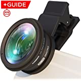 Phone Lens Kit: Wide Angle Lens w/ Macro Lens +UV Filter. For Both Latest and Earlier Samsung /Huawai /iPhone lens -Universal Cell Phone Camera Lens Attachment. For Photo /Video. Free Shooting Guide