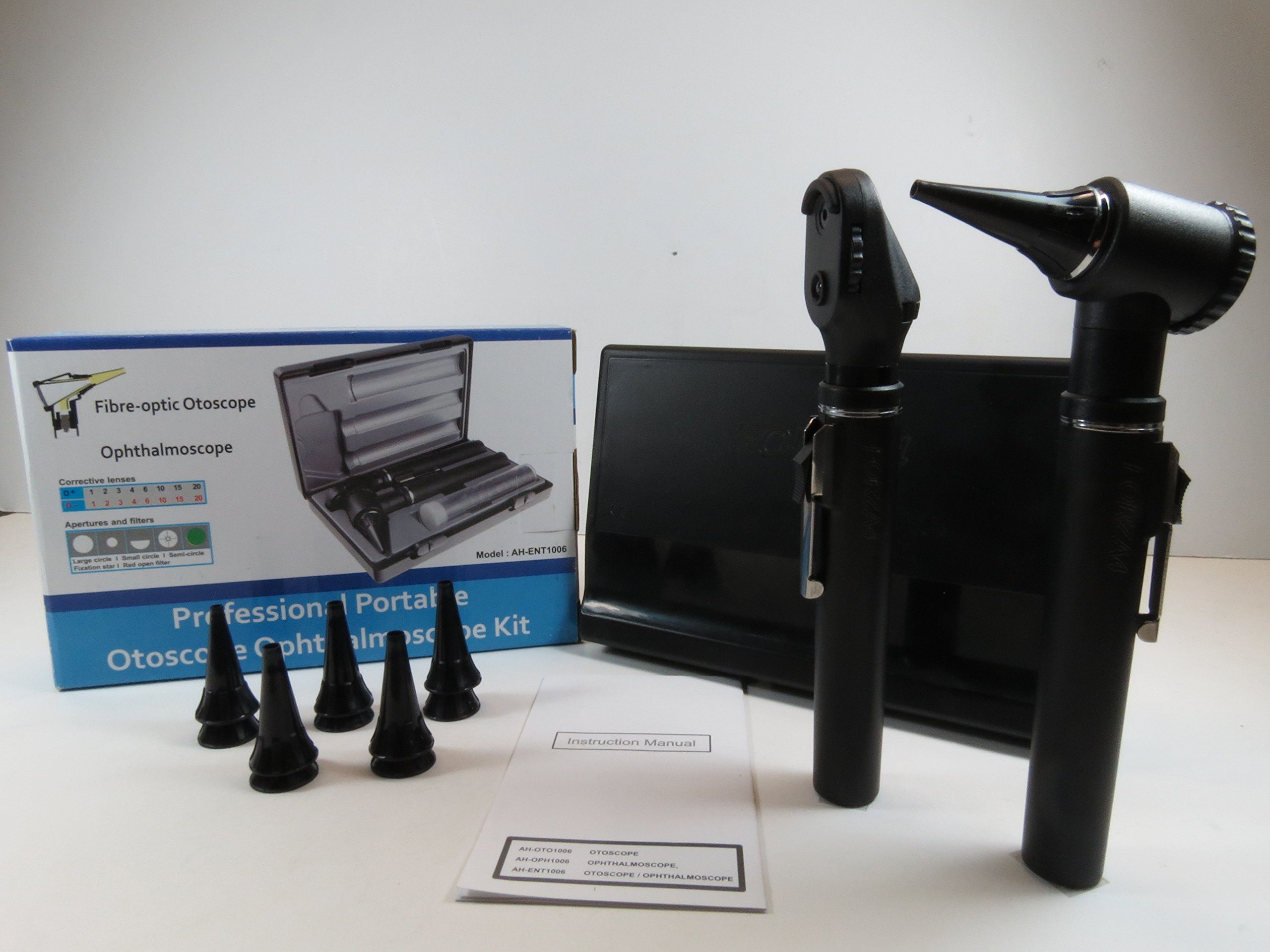 Veterinary Diagnostic Professional Fiber Optic Ophtalmoscope Otoscope Kit