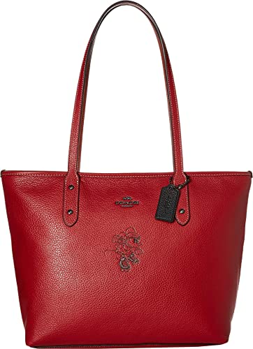 f60224253 Amazon.com: COACH Women's Minnie Mouse City Zip Tote with Motif ¿Disney x  COACH Dk/1941 Red One Size: Shoes