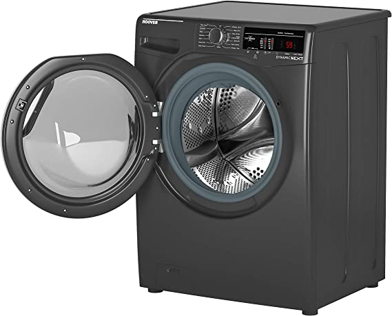 Hoover DXOA 49C3R Freestanding Washing Machine, NFC Connected, 9Kg Load, 1400rpm spin, Graphite [Energy Class A+++]