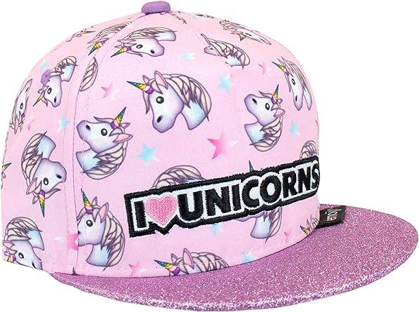 Emoji Gorra para niñas Unicornio Talla única: Amazon.es: Ropa y ...