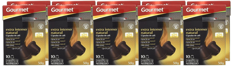 Gourmet - Extra intenso natural - Cápsulas de café compatibles con máquinas Nespresso - 10 unidades de 5 g - [Pack de 14]: Amazon.es: Alimentación y bebidas