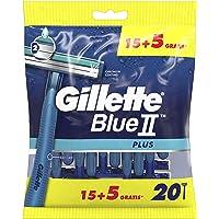 Gillette Wegwerpmesjes Blue II Plus, 15+5 stuks
