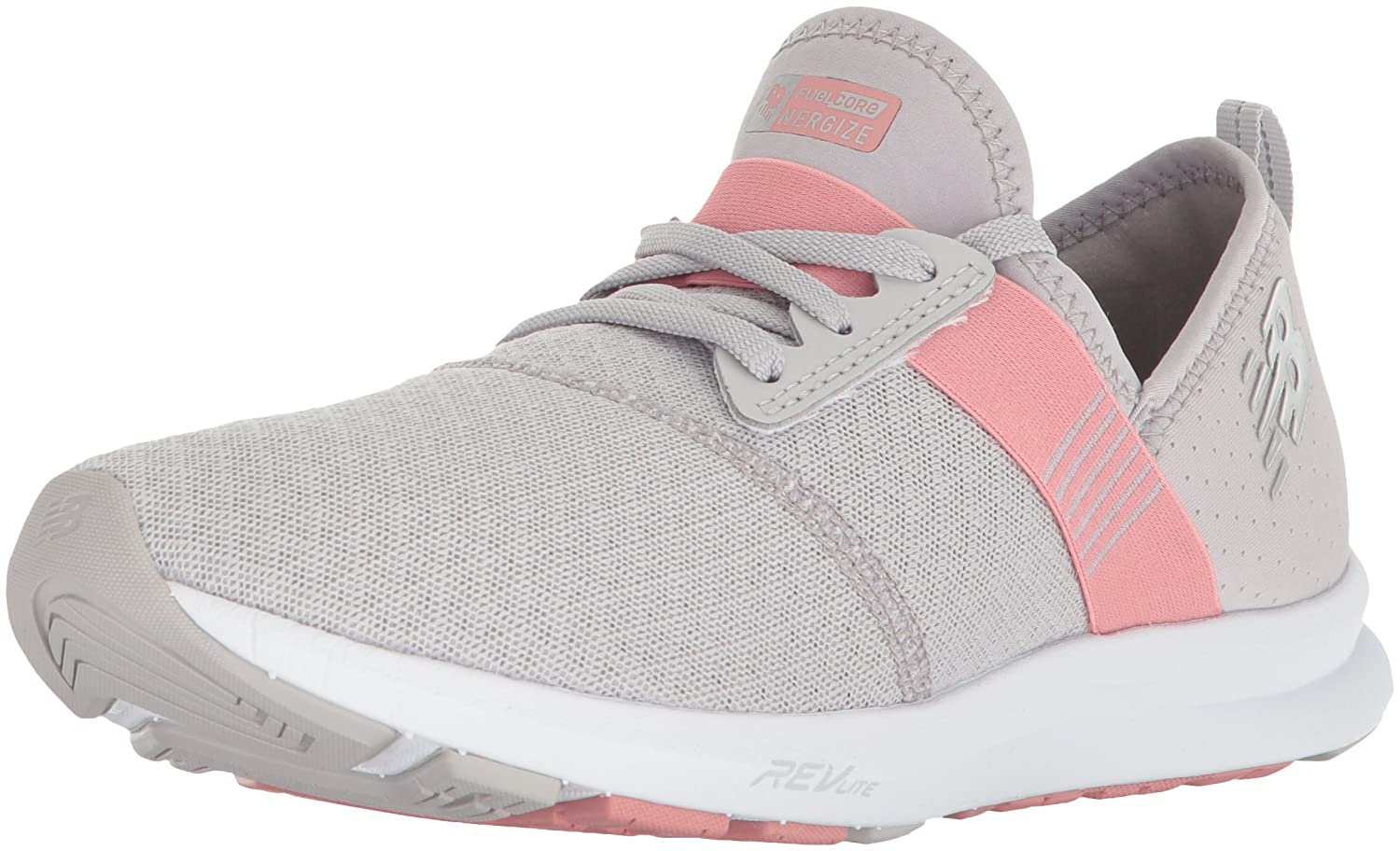 New Balance Women's FuelCore Nergize V1 Fuel Core Cross Trainer B0751DK8FR 8 B(M) US|Silver Mink/Dusted Peach