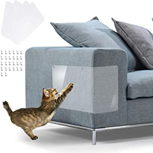 """IN HAND Furniture Scratch Guards, X-Large Premium Flexible Vinyl Cat Couch Protector Guards with Pins for Protecting Your Upholstered Furniture, Cat Scratch Deterrent Pad, 18"""" L X 12"""" W"""